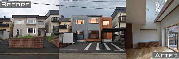 北区新川の中古住宅リノベーション