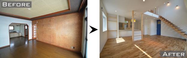 厚別区の中古住宅+リノベーション